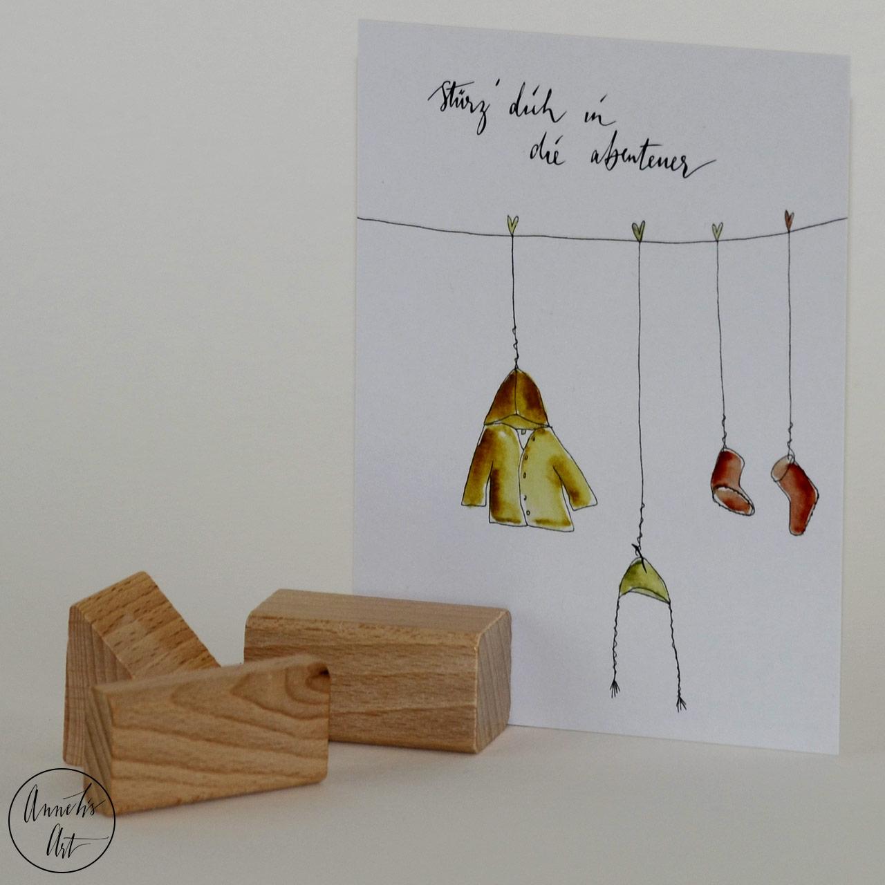 Postkarte zur Geburt | Grußkarte - Stürze dich in die Abenteuer