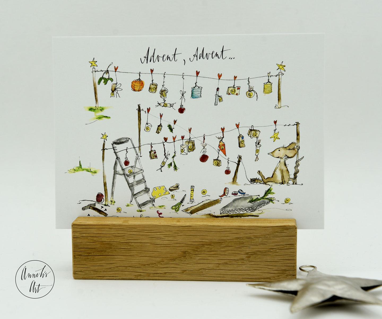 Postkarte | Adventskarte | Advent, Advent