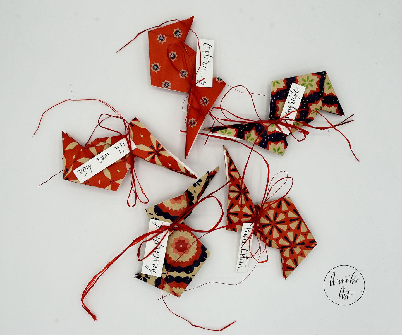 Origami-Osterhasen   5er-Set   15 cm   deine individuellen Schriftzüge   Marlies