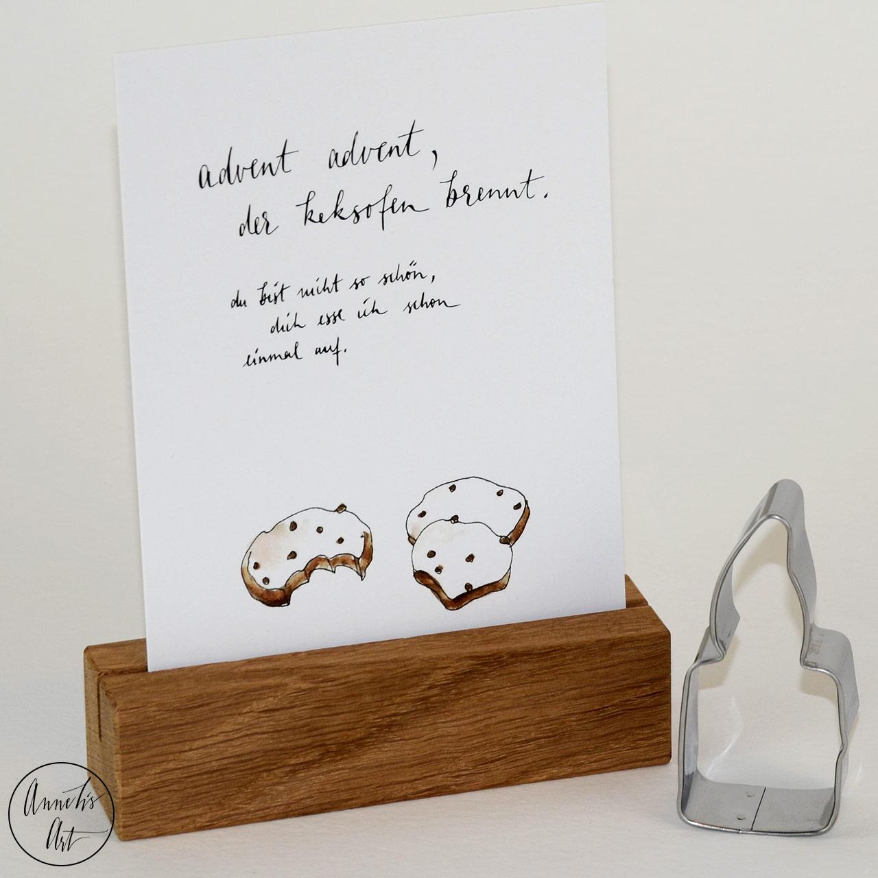Postkarte | Weihnachtskarte | Advent Advent der Keksofen brennt