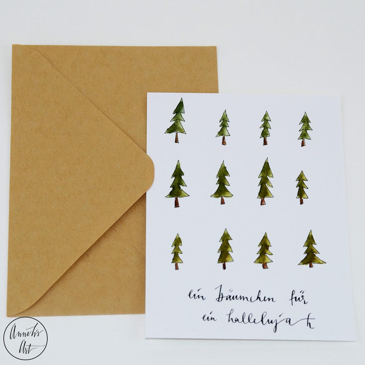 Postkarte | Weihnachtskarte | Bäumchen für ein Hallelujah