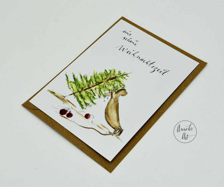Postkarte   Weihnachtskarte   eine schöne Weihnachtszeit