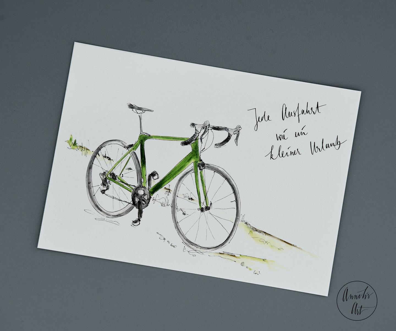 Postkarte | Rennrad | Jede Ausfahrt wie ein kleiner Urlaub