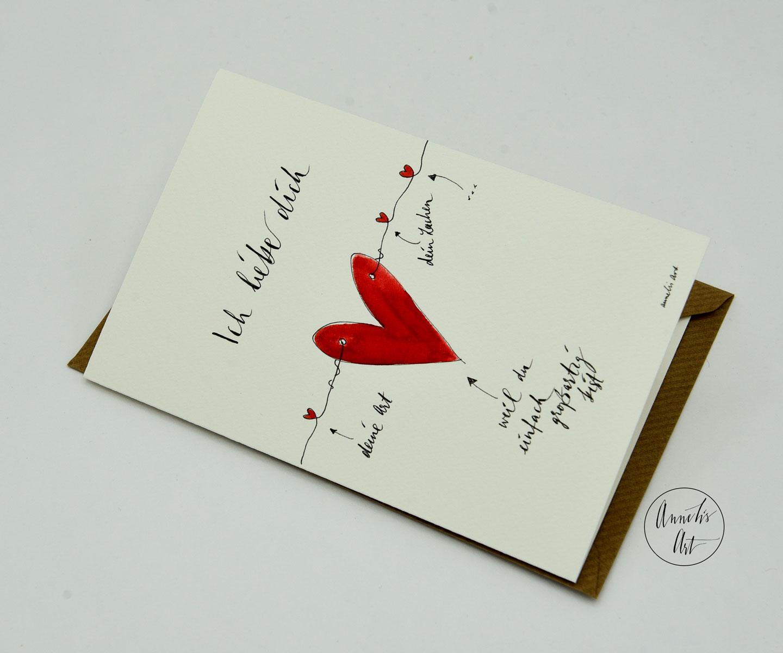 Personalisierte Grußkarte zum Muttertag | handgefertigt | Ich liebe dich, weil du großartig bist!