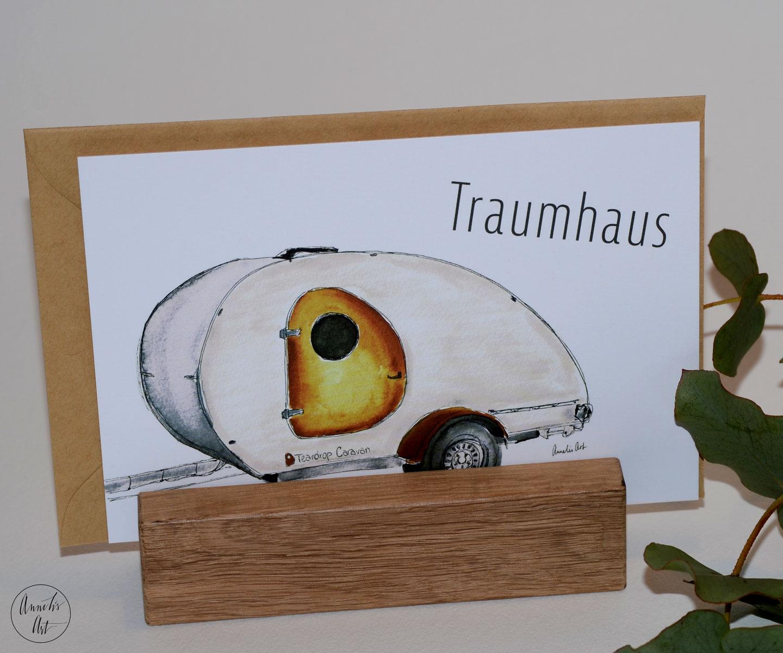 Teardrop Caravan - Postkarte zum Traumhaus