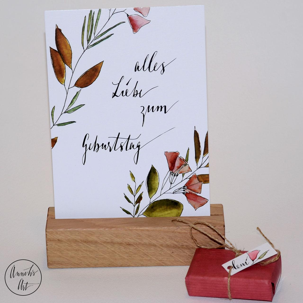 Postkarte | Geburtstagskarte | Geburtstag mit Blumen