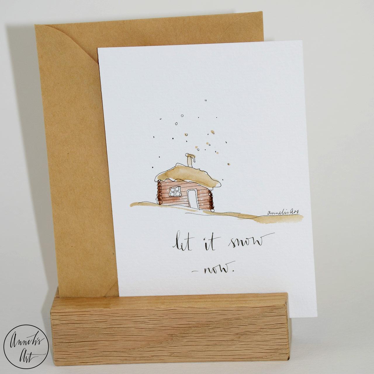 Weihnachtskarte - Let it Snow, now! Grußkarte | Klappkarte mit Umschlag