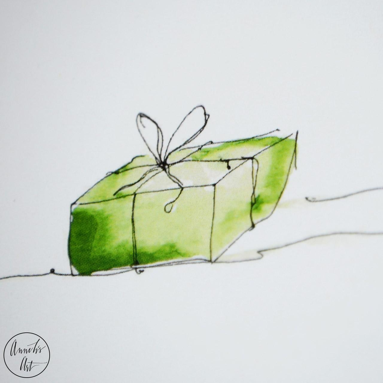 Postkarte   Weihnachtskarte   Wir schenken uns nichts Geschenke