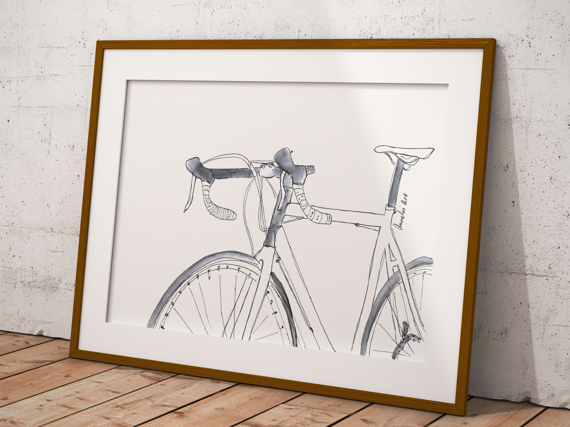 Rennrad - A5 - Farbgebung und Spruch noch wählbar - Einzelstück