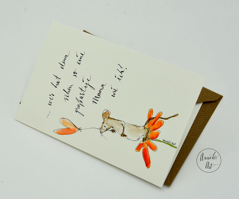 Personalisierte Grußkarte zum Muttertag   handgefertigt   Wer hat denn bitte so eine tolle Mutter wie ich?