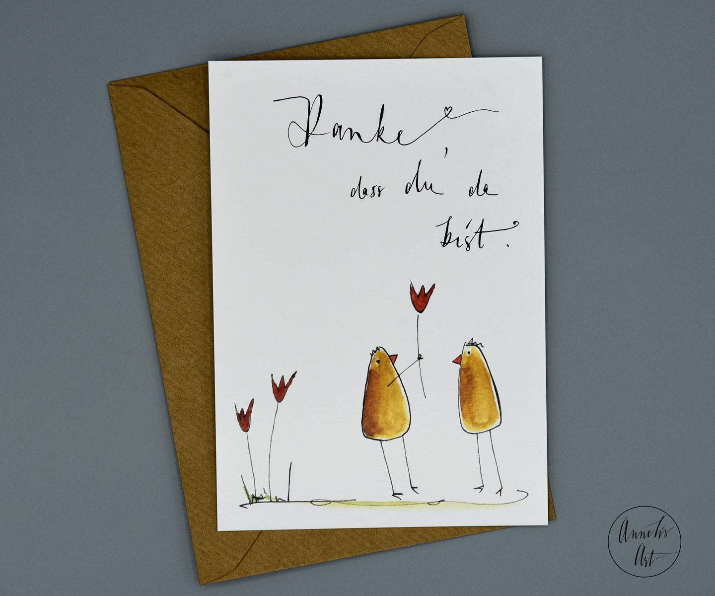 Postkarte | Danke, dass du da bist