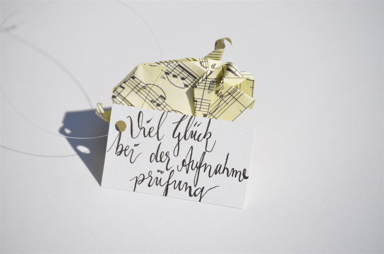 Glücksschwein + Schriftzug: Musiknoten