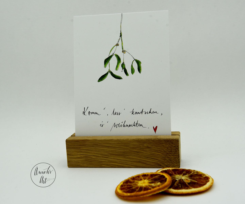 Postkarte | Weihnachtskarte | für Liebende | mit Spruch