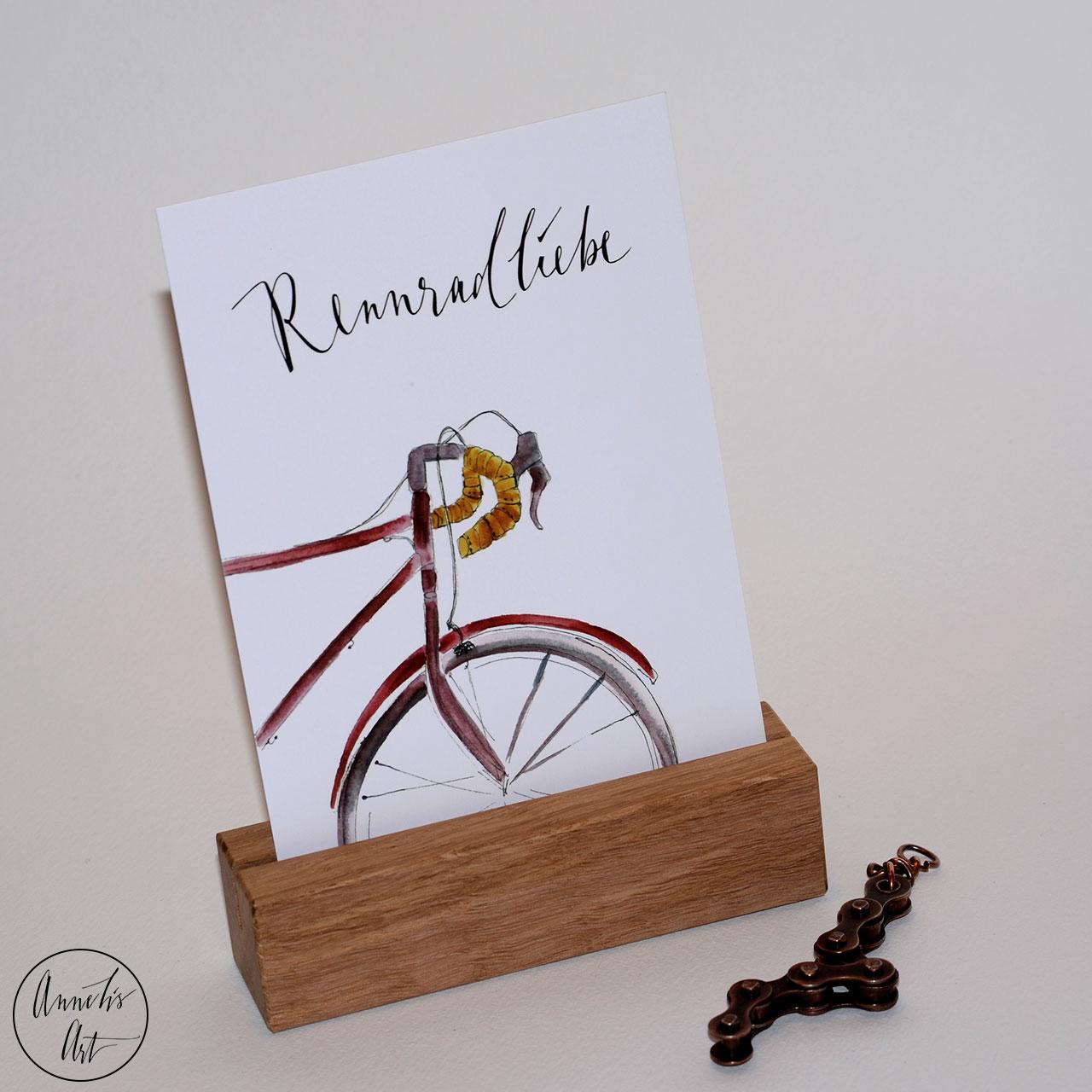 Postkarte Rennradliebe