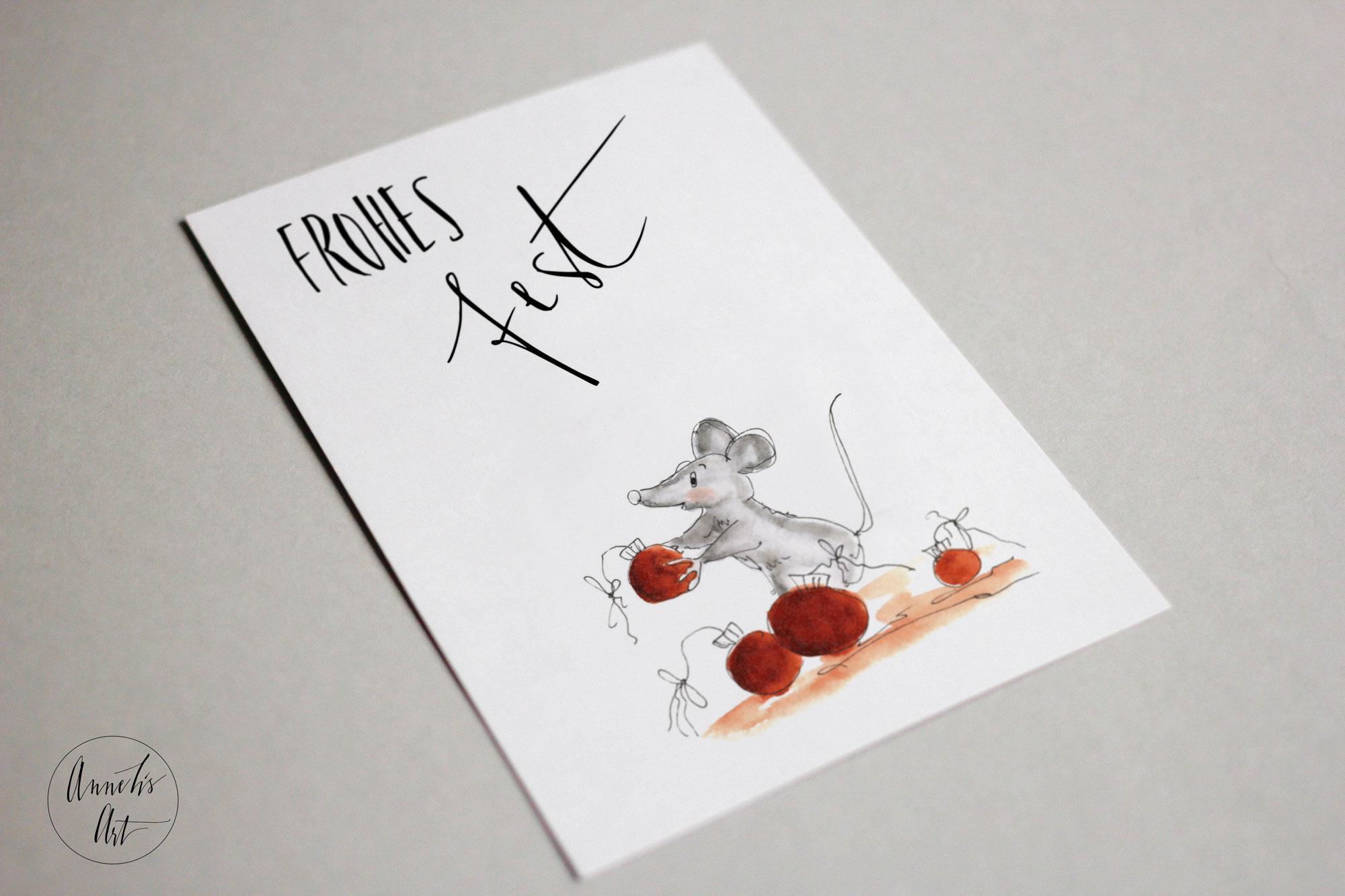 Postkarte | Weihnachtskarte | Frohes Fest