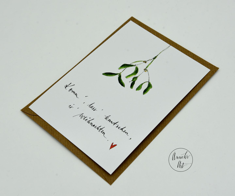 Weihnachtskarte für Verliebte