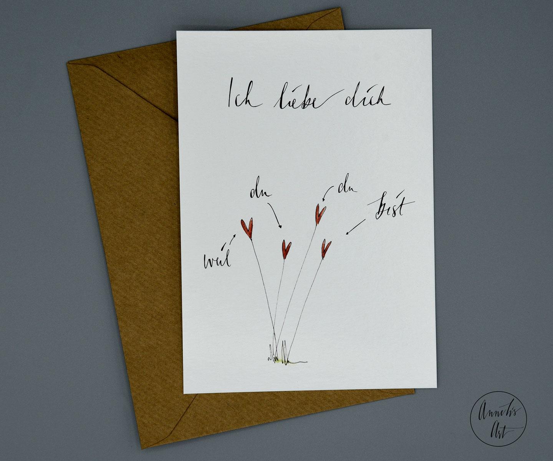 Postkarte | Ich liebe dich weil du du bist