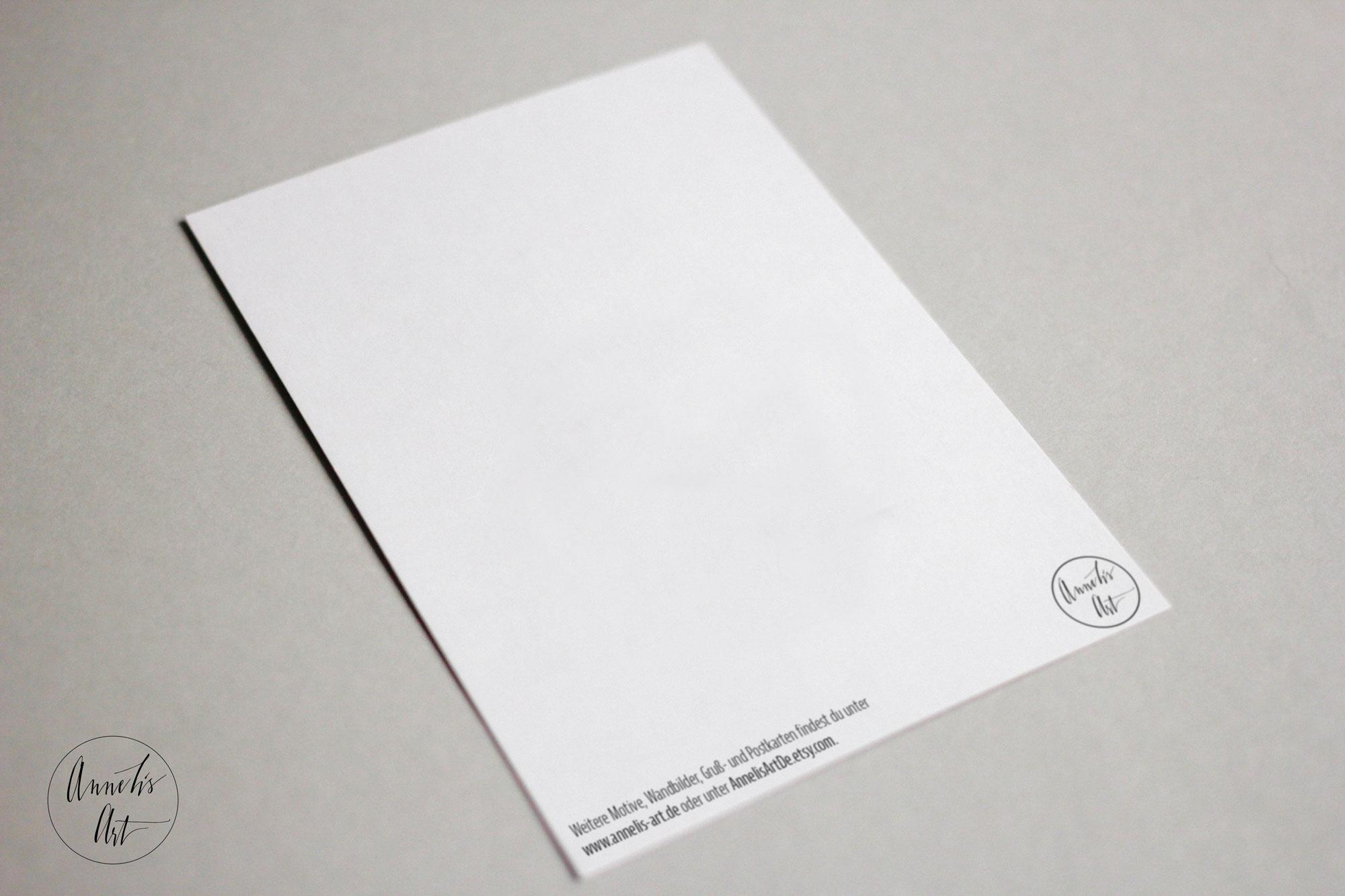 Postkarte zur Taufe   Grußkarte - Du bist du, vergiss das nie