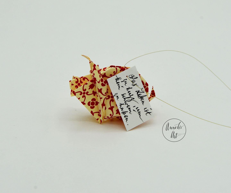 Glücksschwein + Schriftzug: rot blumig