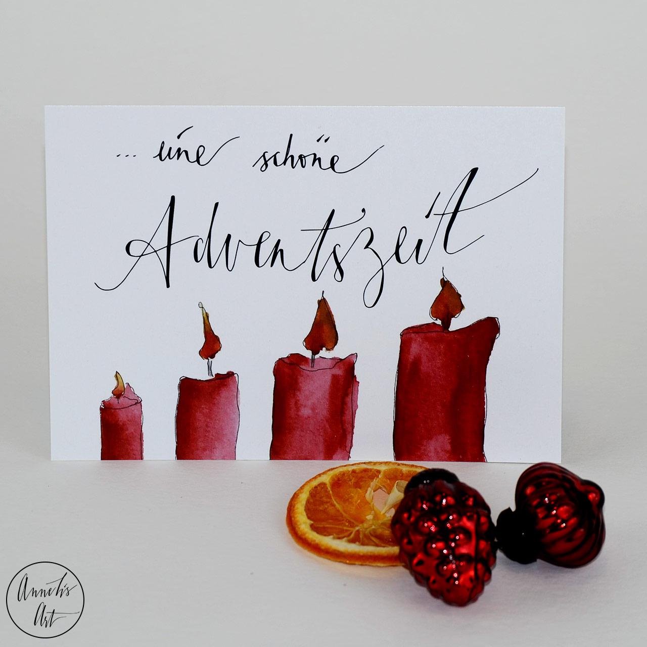 Postkarte | Weihnachtskarte | Eine schöne Adventszeit