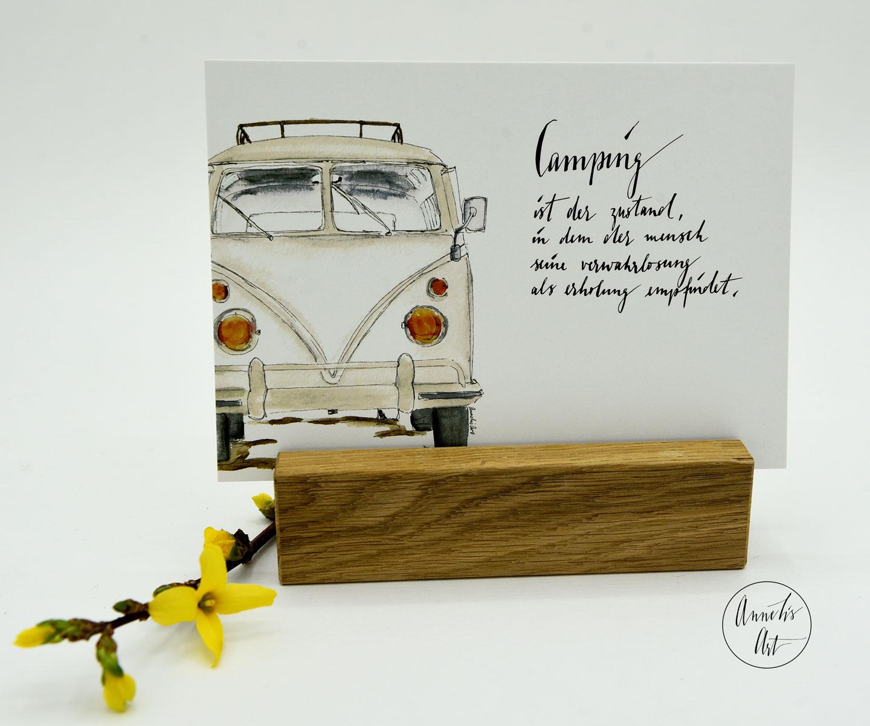 Postkarte | Bulli | Camping als Zustand | Vanlife