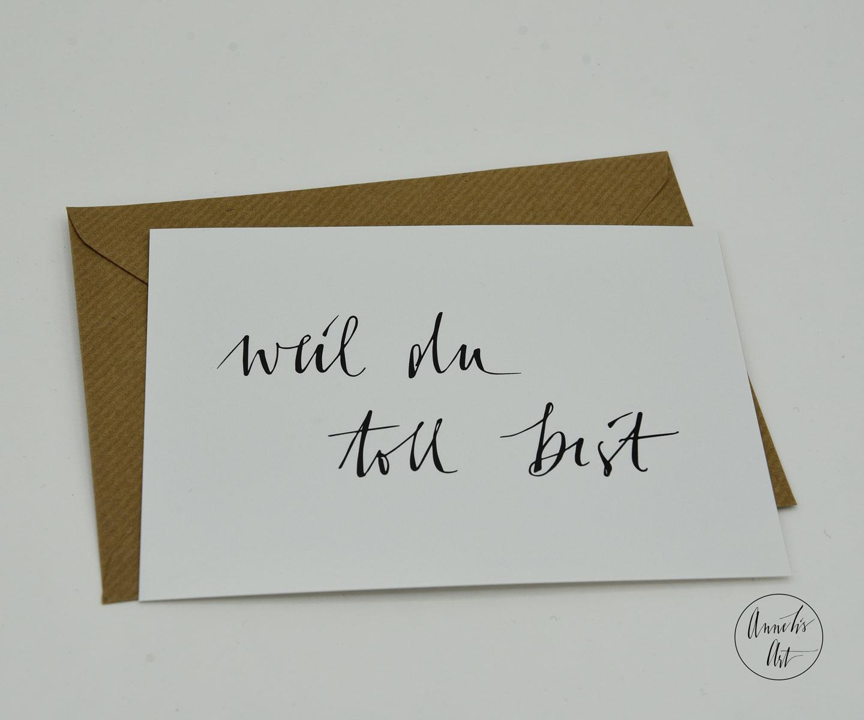 Postkarte | weil du toll bist