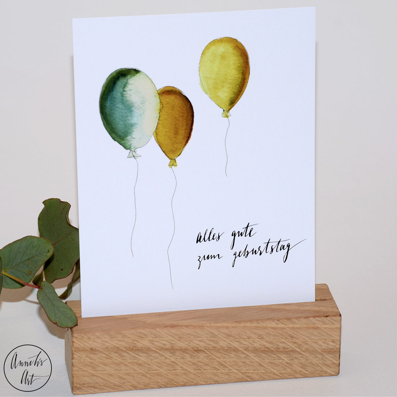Postkarte | Geburtstagskarte | Geburtstag mit Ballons