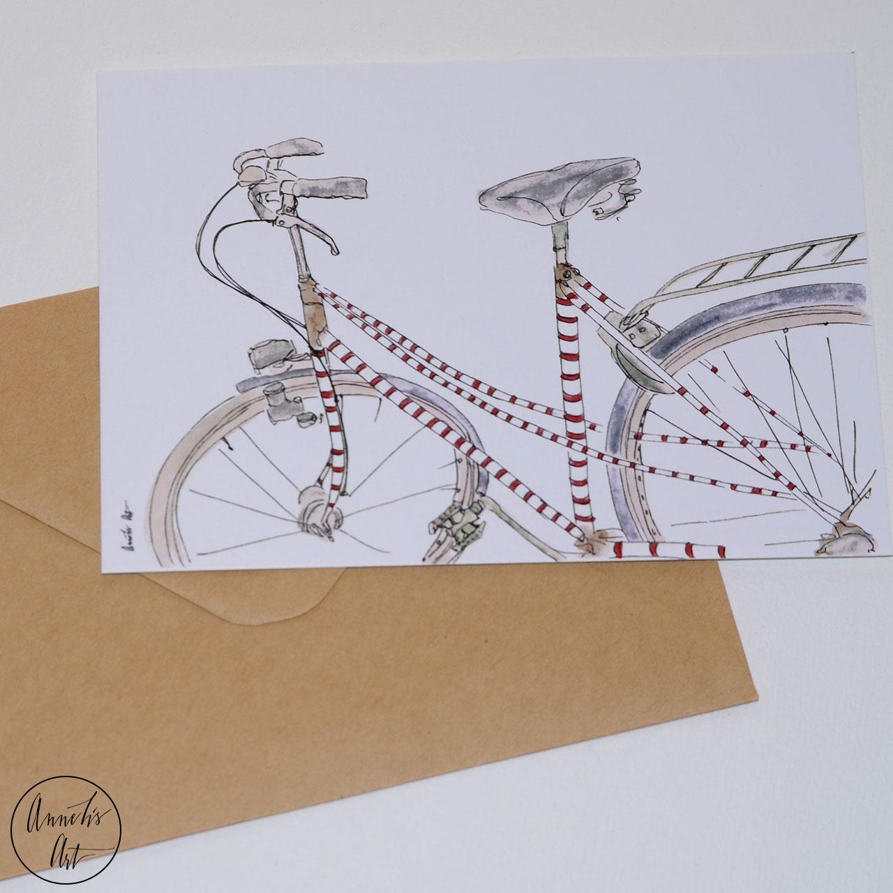 Postkarte Wunderschönes Fahrrad