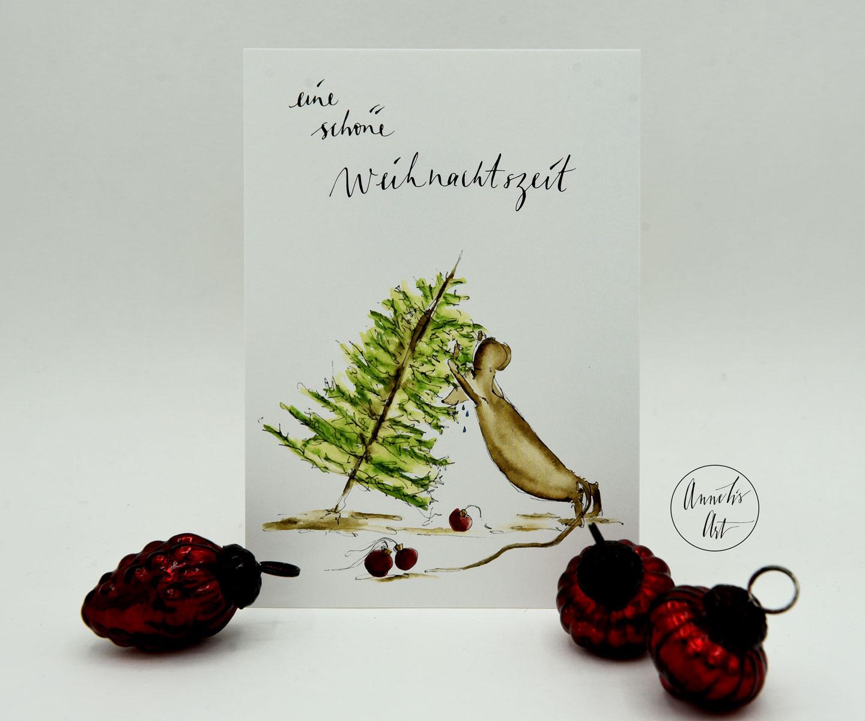 Postkarte | Weihnachtskarte | eine schöne Weihnachtszeit