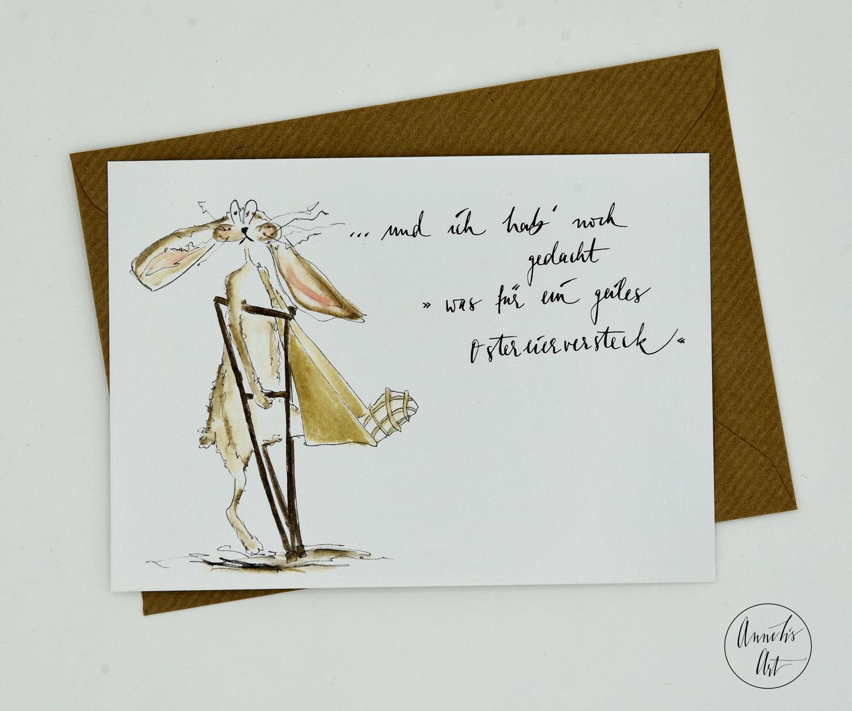 Postkarte | Osterkarte | Geiles Ostereierversteck