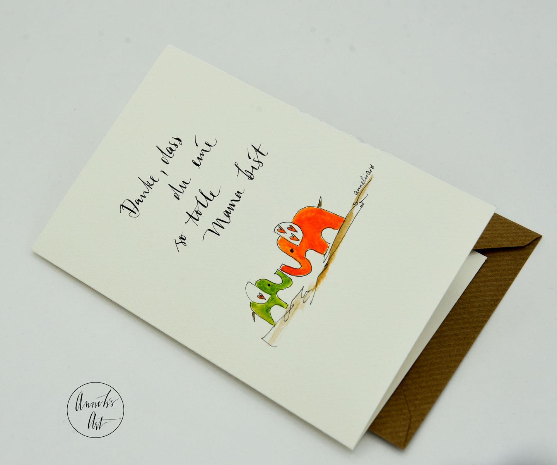 Personalisierte Grußkarte zum Muttertag | handgefertigt | Danke, dass du eine so tolle Mama bist!